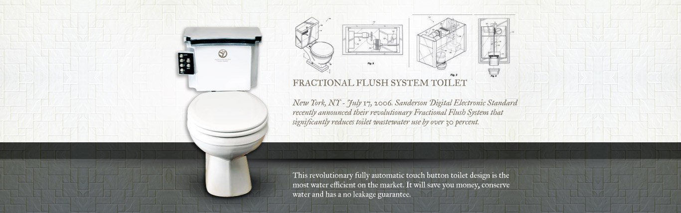 Fractional Flush System Toilet